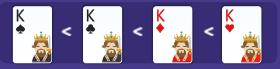 Thứ tự chất bài từ thấp đến cao khi đánh 3 cây
