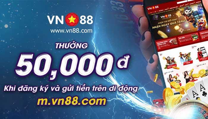 Thưởng 50k VND khi đăng ký và gửi tiền trên di động
