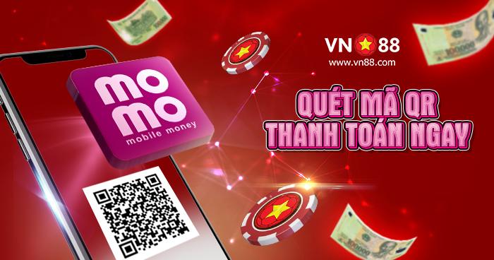 Gửi tiền VN88 thông qua MOMO - Giao dịch cực nhanh và dễ dàng